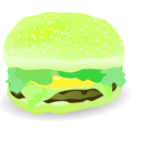 download Cheeseburger clipart image with 45 hue color