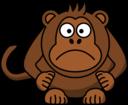 Angry Cartoon Monkey