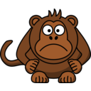 Angry Cartoon Monkey