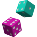 download Green And Purple Dice clipart image with 45 hue color