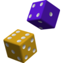 download Green And Purple Dice clipart image with 135 hue color