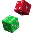 download Green And Purple Dice clipart image with 225 hue color