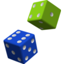download Green And Purple Dice clipart image with 315 hue color