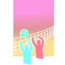 download Volleyball clipart image with 315 hue color