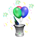 download Champagne Showers 2 clipart image with 135 hue color