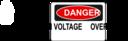 Danger High Voltage Overhead