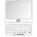 download Qwerty Slider Phone clipart image with 135 hue color