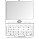 download Qwerty Slider Phone clipart image with 225 hue color