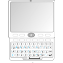 download Qwerty Slider Phone clipart image with 315 hue color