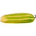 download Cucumber clipart image with 315 hue color