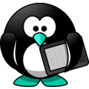 download Modern Penguin clipart image with 135 hue color