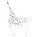 download Rock Art Acacus Giraffe clipart image with 45 hue color