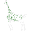 download Rock Art Acacus Giraffe clipart image with 135 hue color
