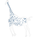 download Rock Art Acacus Giraffe clipart image with 225 hue color
