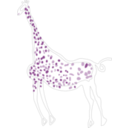 download Rock Art Acacus Giraffe clipart image with 315 hue color
