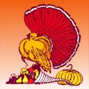 Thanksgiving Turkey And Harvest With Orange Background