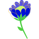 download Blue Flower Vector clipart image with 45 hue color
