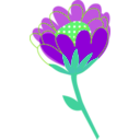 download Blue Flower Vector clipart image with 90 hue color