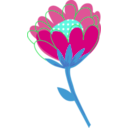 download Blue Flower Vector clipart image with 135 hue color