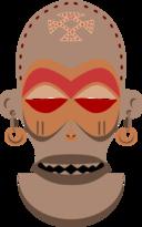African Mask Chokwe Angola Zaire