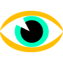 download Eye Sign clipart image with 45 hue color