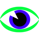 download Eye Sign clipart image with 135 hue color