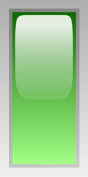 Led Rectangular V Green