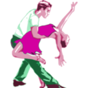 download Dancers With Red Dress clipart image with 315 hue color