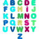 download Animal Alphabets clipart image with 135 hue color