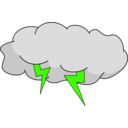 download Storm Cloud clipart image with 45 hue color