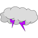 download Storm Cloud clipart image with 225 hue color