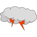 download Storm Cloud clipart image with 315 hue color