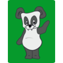 download Friendly Panda clipart image with 45 hue color