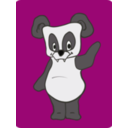 download Friendly Panda clipart image with 225 hue color