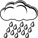 download Raincloud Black White clipart image with 45 hue color