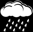 Raincloud Black White