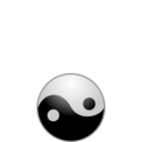 download Ying Yang clipart image with 315 hue color