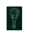 download X Ray Key clipart image with 315 hue color