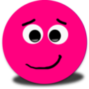 Shy Smiley Pink Emoticon