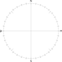 Clean Compass Rose