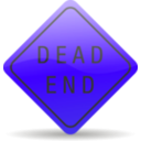 download Dead End Sign clipart image with 225 hue color