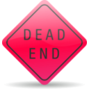 download Dead End Sign clipart image with 315 hue color