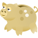 download Piggy Bank clipart image with 45 hue color