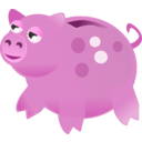 download Piggy Bank clipart image with 315 hue color