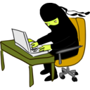 download Ninja Working At Desk clipart image with 45 hue color