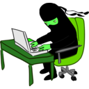 download Ninja Working At Desk clipart image with 90 hue color