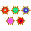 download Flowers clipart image with 315 hue color