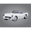 download 1953 Corvette clipart image with 225 hue color