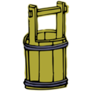 download Wooden Bucket clipart image with 45 hue color