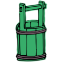 download Wooden Bucket clipart image with 135 hue color